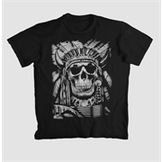 Camiseta Caveira Indian Skull